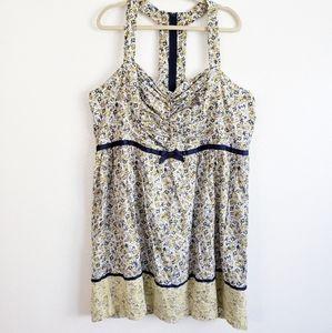 Torrid Mini Floral Sweetheart Neck Line Dress